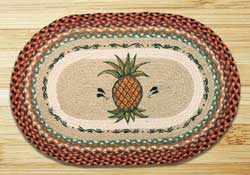 Pineapple Oval Patch Braided Rug