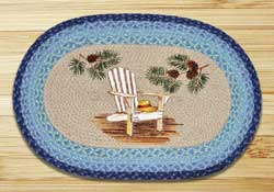 Lake Chair Oval Patch Braided Rug