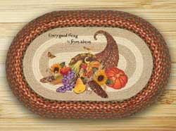 Everything Good Oval Patch Braided Rug
