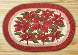 Poinsettia Braided Rug
