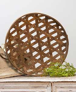 Round Woven Tobacco Basket