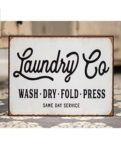 Laundry Co Tin Sign