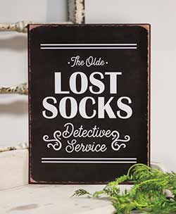 Lost Socks Tin Sign