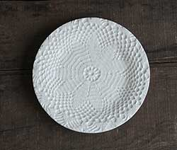 Lace Doily Ceramic Plate