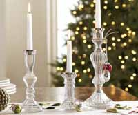 Rosanna Glass Candlestick - Short (Clear)
