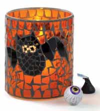 Bat Mosaic Glass Tealight