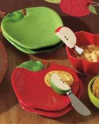 TAG Apple Shaped Appetizer Plate