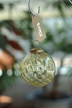 Gold Hammered Glass Ornament