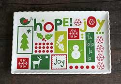Hope, Peace, Joy Platter