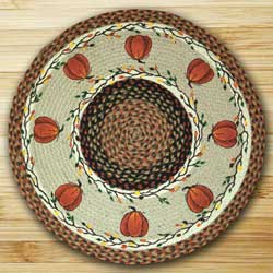 Harvest Pumpkin Braided Jute Rug - Round