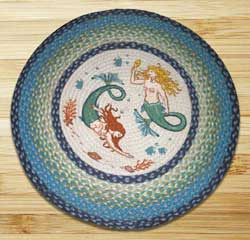 Mermaids Braided Jute Rug - Round
