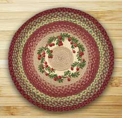 Cranberries Braided Jute Rug - Round