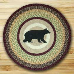 Cabin Bear Braided Jute Rug - Round