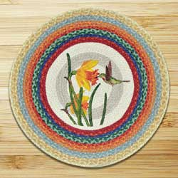 Hummingbird Braided Jute Rug - Round
