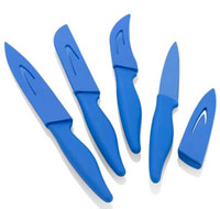 Resin Coated Paring Cutlery Set (Set of 4) - Blue