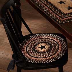 Colonial Star Braided Chair Pad