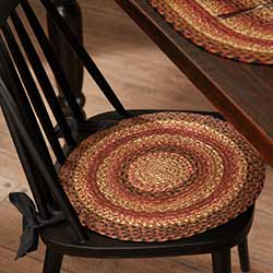 Ginger Spice Braided Chair Pad