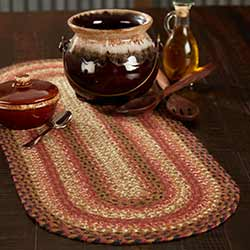 Ginger Spice Braided 36 inch Table Runner (Oval)