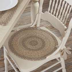 Cobblestone Braided Chair Pad