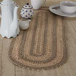 Cobblestone Braided 36 inch Table Runner (Oval)