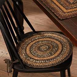 Espresso Braided Chair Pad