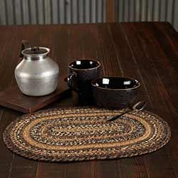 Espresso 12 x 18 inch Braided Placemat (Oval)