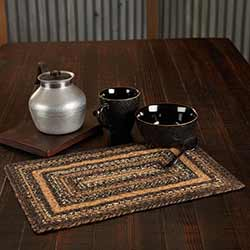 Espresso 12 x 18 inch Braided Placemat (Rectangle)