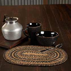 Espresso 10 x 15 inch Braided Placemat (Oval)