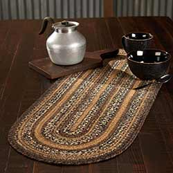 Espresso Braided 36 inch Table Runner (Oval)