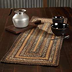 Espresso Braided 36 inch Table Runner (Rectangle)