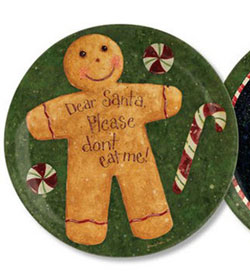 Gingerbread Man Plate