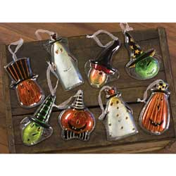 Carson Halloween Glass Ornament