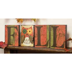 Fall Letter Block Set