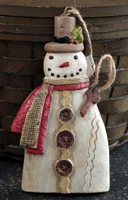 Glad Tidings Snowman Ornament