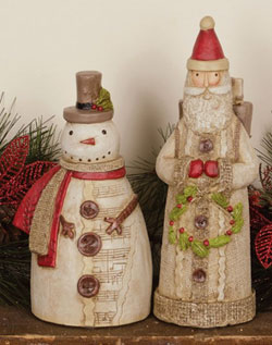 Glad Tidings Snowman or Santa Figure