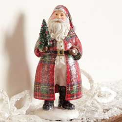 Holiday Wishes Plaid Santa
