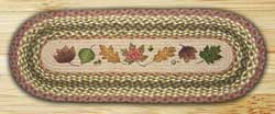 Autumn Leaves Braided Jute Tablerunner - 36 inch