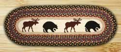 Bear & Moose Braided Jute Tablerunner - 36 inch