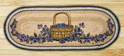Blueberry Basket Braided Jute Table Runner - 36 inch