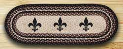Fleur De Lis Braided Jute Table Runner - 36 inch