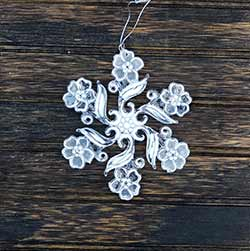 Glittered Snowflake Ornament