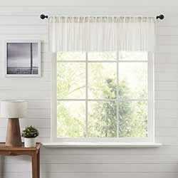 Tobacco Cloth Antique White Patchwork 90 inch Valance