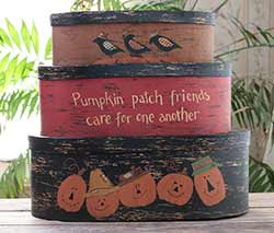 Pumpkin Patch Stacking Boxes (Set of 3)