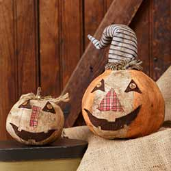 Patchwork Pumpkins (Set of 2)