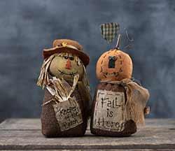 Fall Pumpkin & Scarecrow Friends (Set of 2)