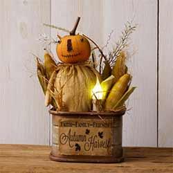 Autumn Harvest Light-up Tin