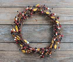 Candy Corn and Pumpkin Wreath