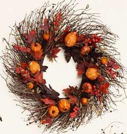 Fall Gourd & Berry Wreath