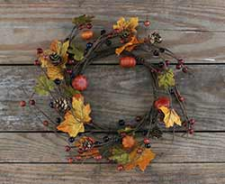 Pumpkin & Autumn Berry Candle Ring