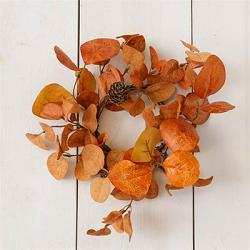 Orange Eucalyptus & Mini Pinecones Candle Ring
